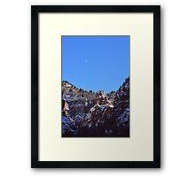 Moon Over Colorado Peaks Framed Print