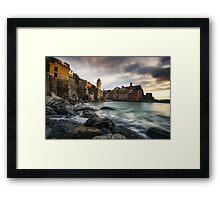 Sunset over Vernazza Framed Print