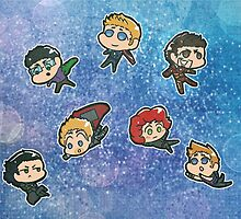 Avengers chibis by Nickyparson