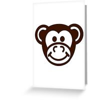Monkey comic face Greeting Card