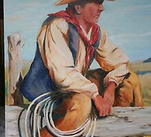 The Lone Rancher by Gerard Bahon
