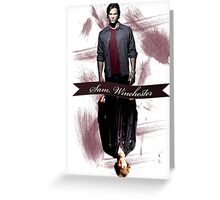 Sam Winchester Then & Now Greeting Card