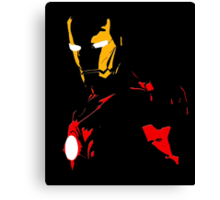Iron Man - Black Background Nerdy Canvas Print