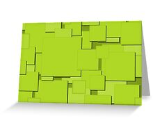 Lime Squares Greeting Card