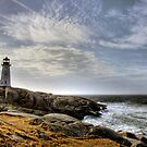 Peggy's Cove Lighthouse, Nova Scotia by Andrew Dunwoody