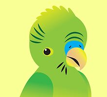 Green budgie by jazzydevil