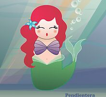 Kokeshi The little mermaid by Pendientera