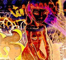 Girl on a Wall by Andre van Eyssen
