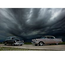 '54 Chevy Deluxe & '56 Bel Air Custom Photographic Print