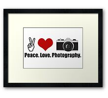 Love Photography Framed Print