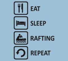 White Water Rafting Eat Sleep Repeat by movieshirtguy
