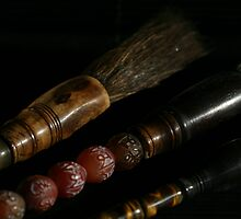 Chinese Paint Brushes by lizalady