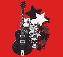 Stars Guitars & Skulls by block33