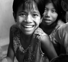 Smiles in Myanmar by Mick Yates