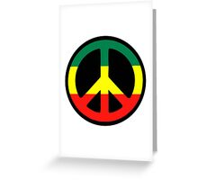 Rasta Peace Greeting Card