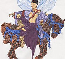 Chinese Fairy and A Horse Named Mehndi by redqueenself