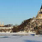 Winter&#x27;s View of Parliament from the Ottawa River by Max Buchheit