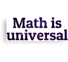 Math is universal galaxy Canvas Print