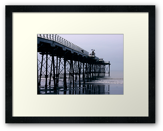Rainy Day On The Pier - Saltburn - Cleveland by Trevor Kersley