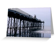 Rainy Day On The Pier - Saltburn - Cleveland Greeting Card