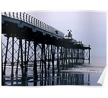 Rainy Day On The Pier - Saltburn - Cleveland Poster