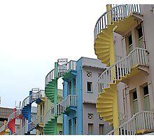 Singapore Stairways Photographic Print