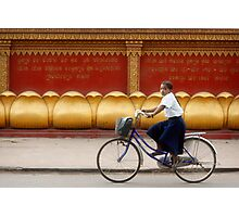 Bicycling - Siem Reap - Cambodia Photographic Print