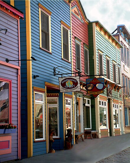The Shops in Crested Butte by RC deWinter