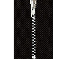 Funny black texture Zipper Photographic Print