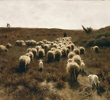 The Return of the Flock at Laren by Anton Mauve 1886-1887 by Adam Asar