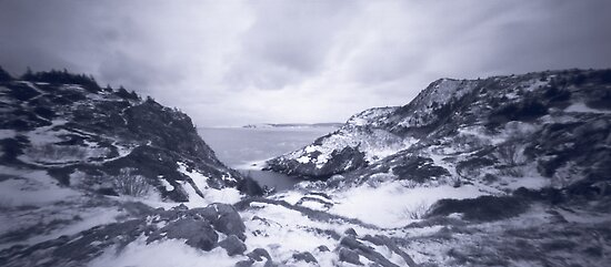Pinhole Panoramic of Cuckold's Cove, Newfoundland by Max Buchheit