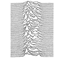 Pulsar waves - white&black Photographic Print