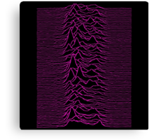 Pulsar waves - White&Pink  Canvas Print