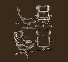 Iconic Mid Century Design Eames Lounge Chair Patent Drawings by Framerkat