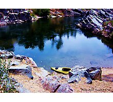 Kayaking the American River in Folsom, California Photographic Print
