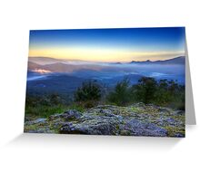 First light in the Blue Ranges Greeting Card