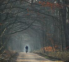 Cycling on a cold December morning by jchanders