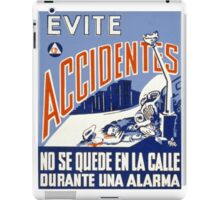 Evite Accidentes iPad Case/Skin