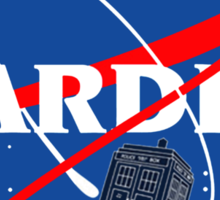 Nasa Tardis Sticker