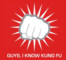 Guys, I Know Kung Fu (white) by Endovert