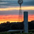 Windmill Sunset by KellyHeaton