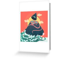 Snake On Crystal Mountain Greeting Card