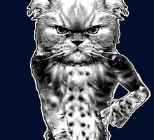 beast mode cat by darklordcat