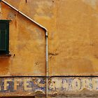 Window with Writing on Wall by jojobob