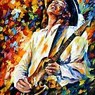 Stevie Ray Vaughan — Buy Now Link - www.etsy.com/listing/224685191 by Leonid  Afremov