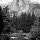 Half Dome and the Merced River  by Harry Snowden