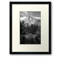 Half Dome and the Merced River  Framed Print