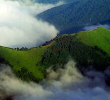 LIGURIA LANDSCAPES Saccarello valley clouds by Enrico Pelos