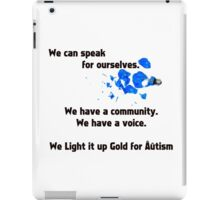 We Have a Voice iPad Case/Skin