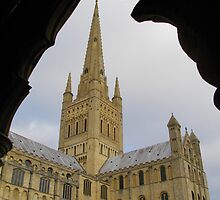 Norwich Cathedral - through a cloister archway by ChelseaBlue